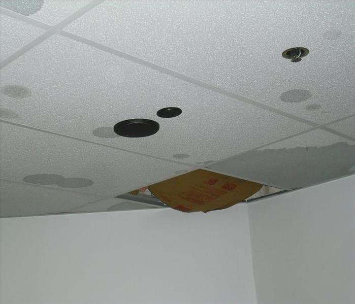 Rain storm in commercial offices Before