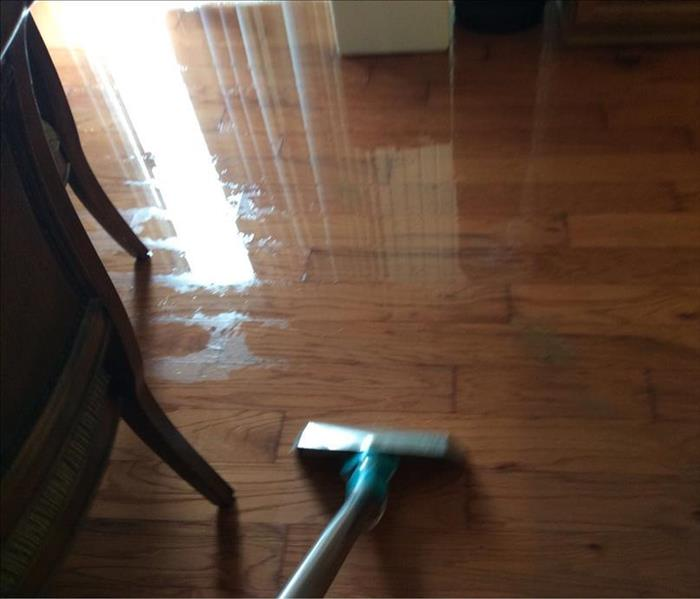 Water extraction from wood flooring